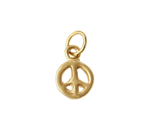 14kt Gold Peace Charm