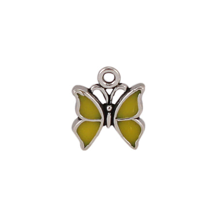 Enamel Yellow Butterfly Charm