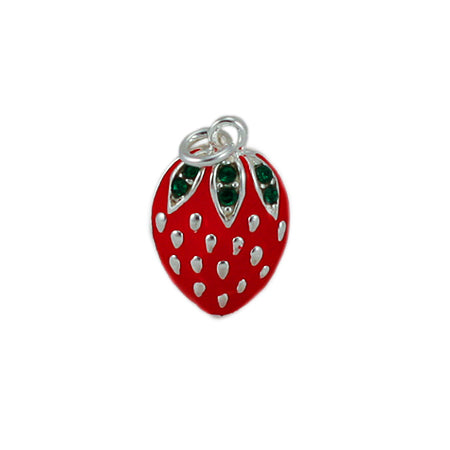 Enamel Strawberry Charm