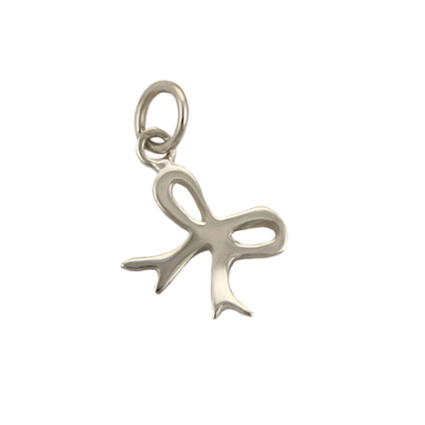 Silver Bow Charm