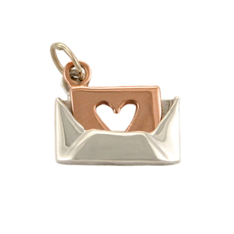 14kt Gold Silver Love Letter Charm
