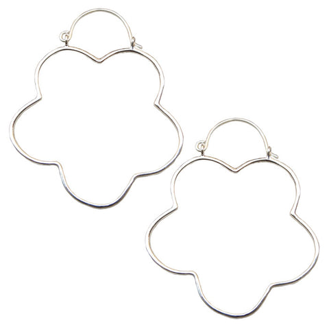 Clover Flower Hoops