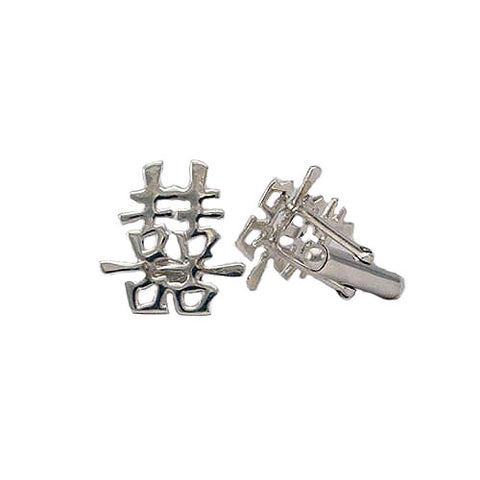 Chinese Double Happiness Cufflinks