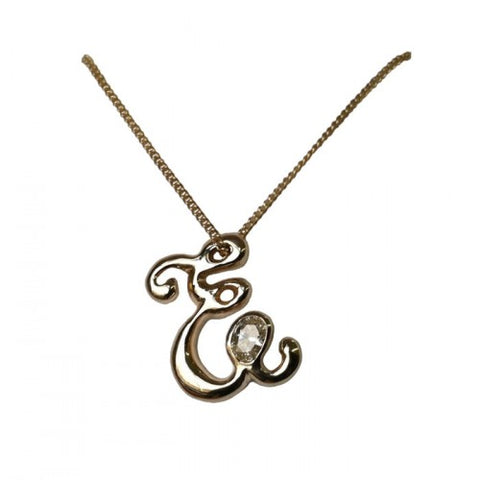 Custom 14kt Gold Initial Diamond Necklace