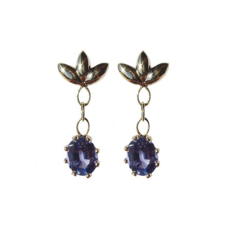 14kt Gold Custom Tanzanite Earrings