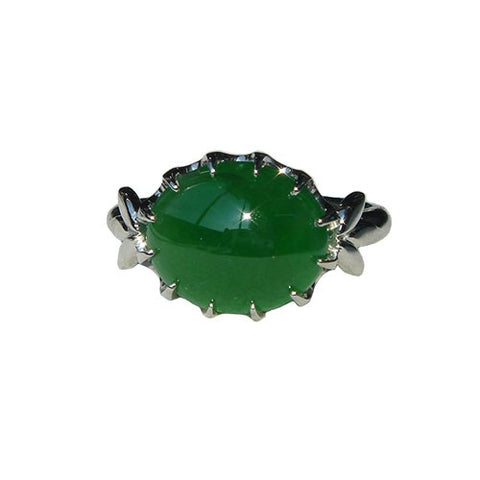 Debbie's Custom Jade Ring Top View