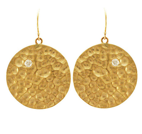 14kt Yellow Gold Earth Earrings