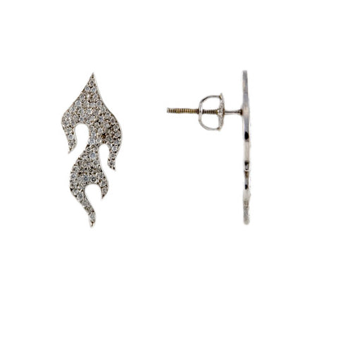 Diamond Flame Earrings