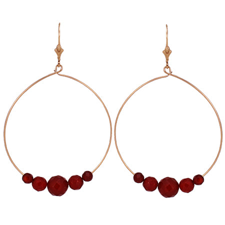 Carnelian Wilma Hoop Earrings
