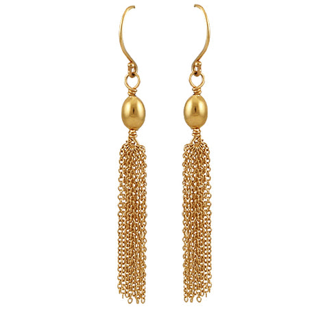 14kt Yellow Gold Tassel Earrings