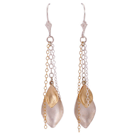 Double Spade Leaf Earrings
