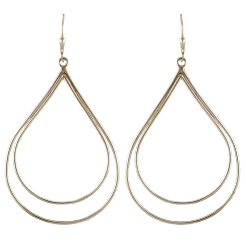Double Teardrop Hoops