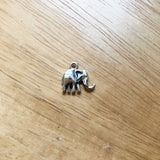 Sterling Silver Elephant Charm 12mm