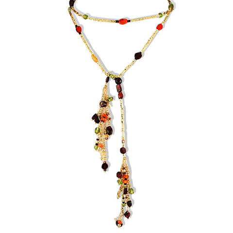 Multi stone Fall Lariat