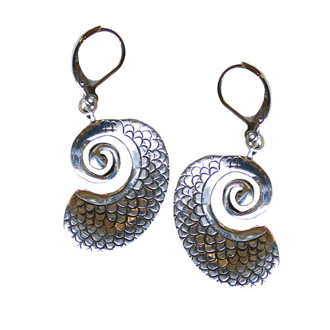 Mermaid Nautilus Earrings