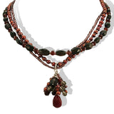 Garnet Blessings Necklace