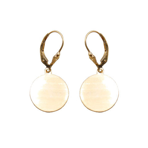 Gold Fill Disc Earrings