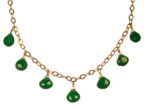 Mughal Green Onyx Drop Necklace