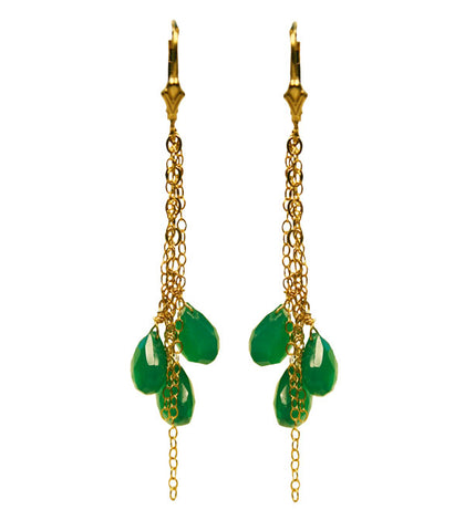 Mughal Green Onyx Earrings