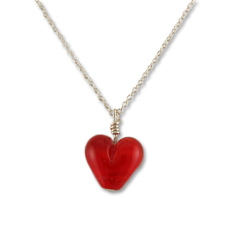 Moretti Red Heart Necklace