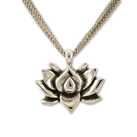 Lotus Necklace detail
