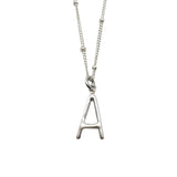 Sterling Silver Modern Letter A Necklace