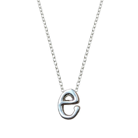 Sterling Silver Monogram E Necklace