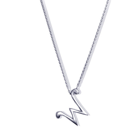 Sterling Silver Monogram W Necklace