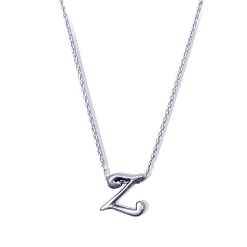Sterling Silver Monogram Z Necklace