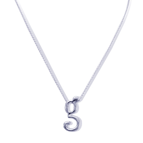 Sterling Silver Monogram G Necklace
