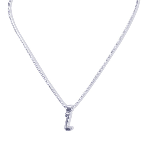 Sterling Silver Monogram I Necklace