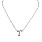 Sterling Silver Monogram Little R Necklace