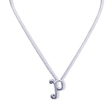 Sterling Silver Monogram P Necklace