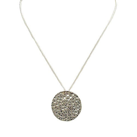 Earth Hammered Disc Necklace