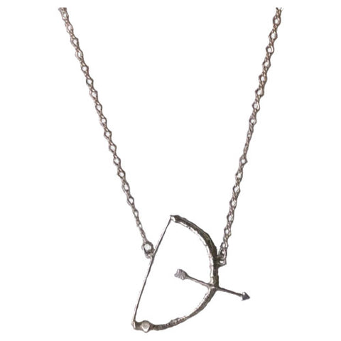 Diana Huntress Bow and Arrow Necklace