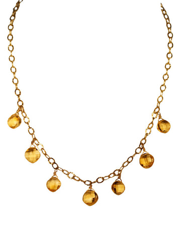 Citrine Gemstone Necklace