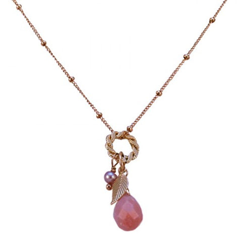 Girl Treasure Rose Quartz Necklace