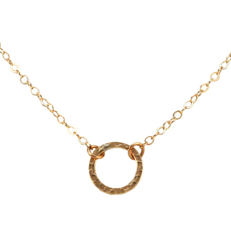 Gold Fill Endless Summer Ring Necklace
