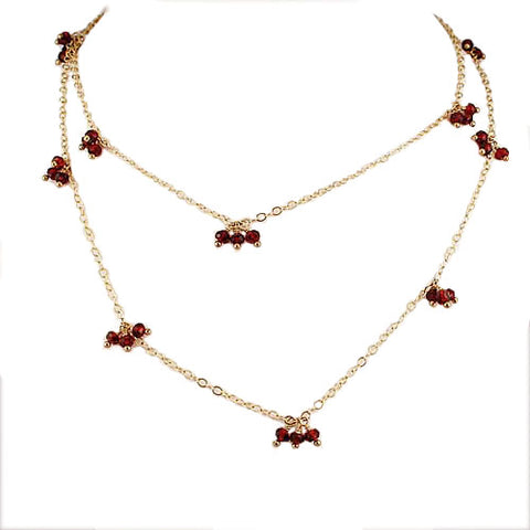 Long Berries Garnet Necklace