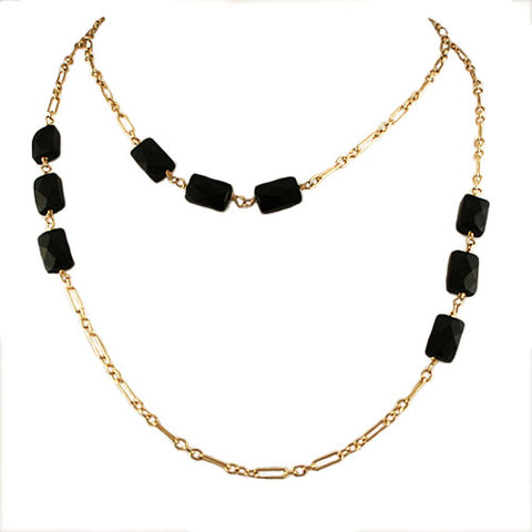 Onyx Flapper Necklace