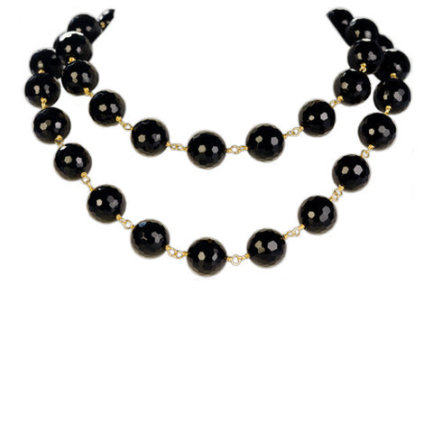 Long Wilma Onyx Necklace