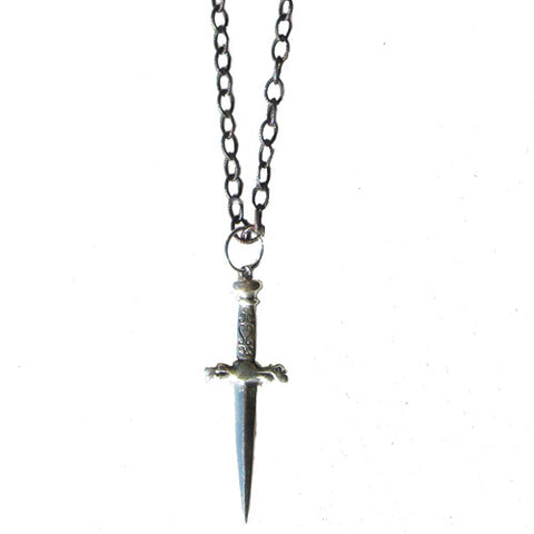 Long Single Dagger Necklace