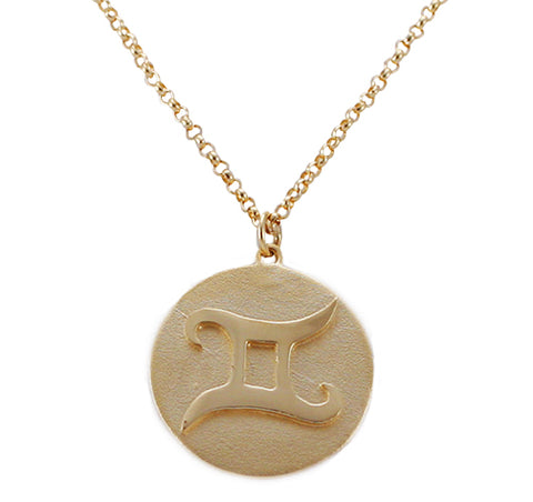 Raised Gemini Zodiac Necklace