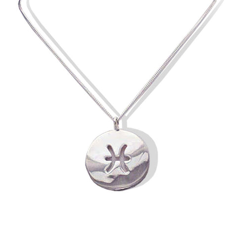 Sterling Silver PISCES Zodiac Necklace