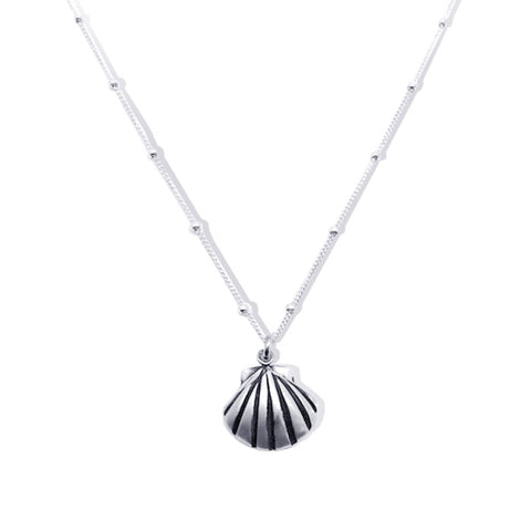 Sterling Silver Scallop Shell Necklace