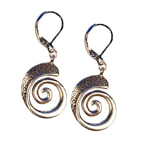 Bubbles Nautilus Earrings
