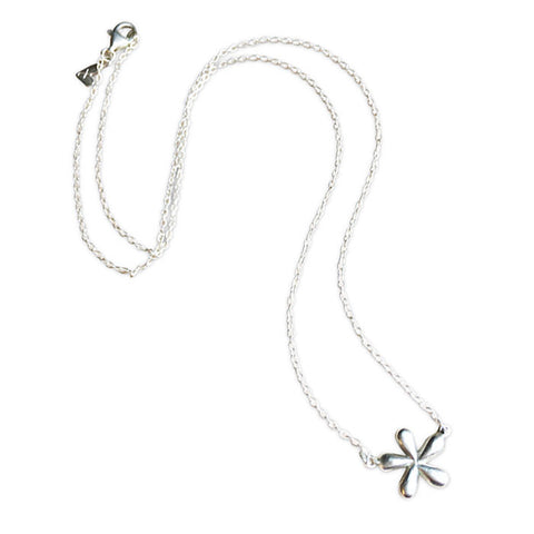 Sterling Silver Small Daisy Necklace