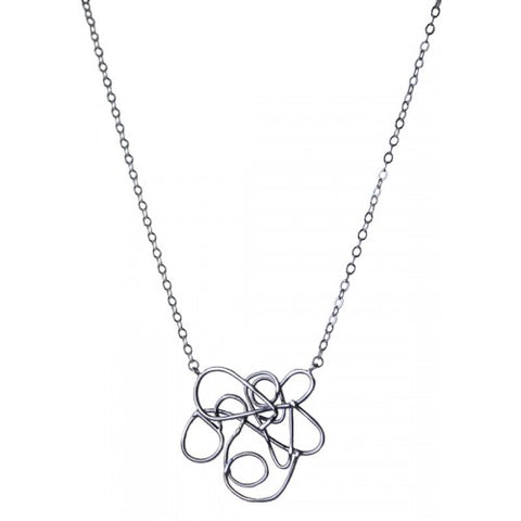 Round Squiggle Necklace