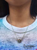 Nautical Swirl Necklace on Model