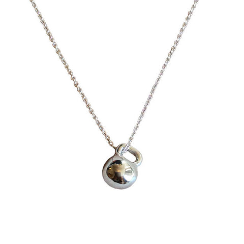Sterling Silver Teeny Kettlebell Necklace